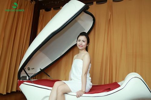 Tắm trắng phi thuyền giúp tổng hợp collagen và tái cấu trúc da, giúp da trắng sáng và tươi trẻ.