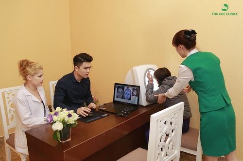 Quy trình trị mụn tại Thu Cúc được tiến hành bài bản từ bước thăm khám đến điều trị