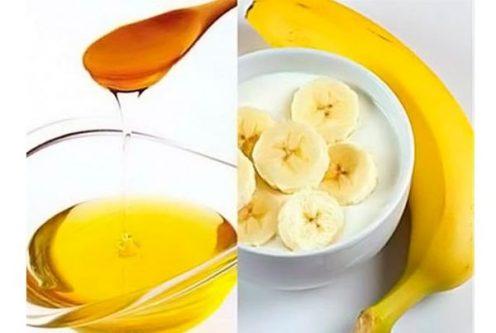 Kết hợp giữa mặt nạ chuối chín và mật ong để tăng cường cung cấp dưỡng chất và hỗ trợ trị mụn