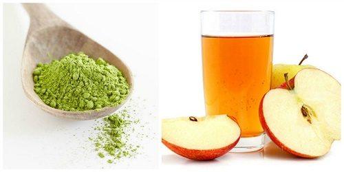 Trà xanh và giấm táo cũng là công thức trị mụn bạn gái nên tranh thủ thực hiện đều đặn tại nhà