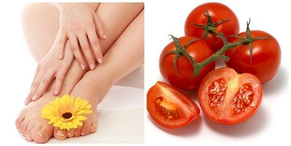 Cách làm rụng lông chân bằng cà chua là phương pháp an toàn, hiệu quả