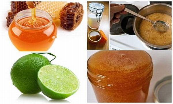 Kết hợp mật ong với đường sẽ cho công thức tẩy lông chân an toàn