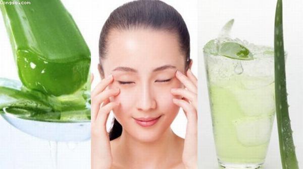 Nên đắp mặt nạ nha đam vào mỗi tối tình trạng thâm xỉn da sẽ được cải thiện đáng kể