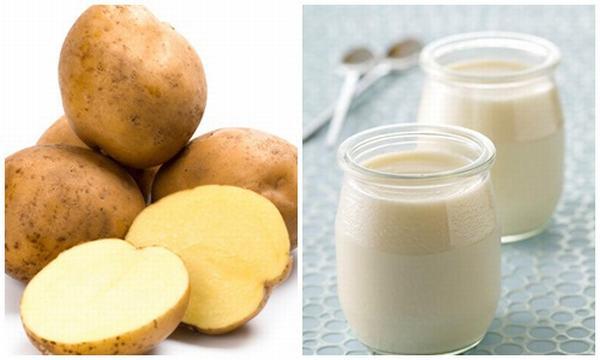 Khoai tây + sữa tươi bộ đôi trị tàn nhang an toàn hiệu quả