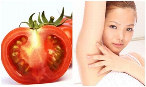 Cà chua vốn là nguyên liệu tẩy lông an toàn, hiệu quả