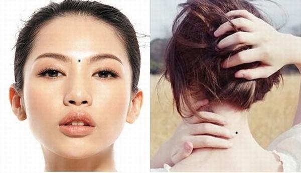 Phụ nữ có nốt ruồi mọc ở trung tâm khuôn mặt tuy tốt đẹp về mặt nhân tướng như tính thẩm mỹ chưa cao