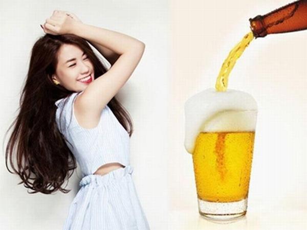 Bia là thức uống làm trắng da đem lại hiệu quả khả quan cho nàng da ngăm đen