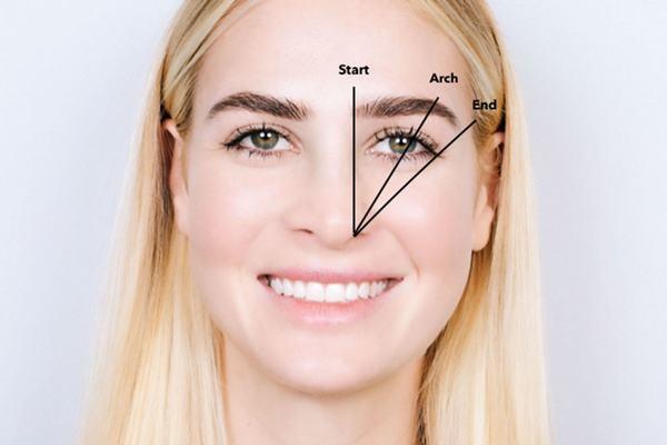 Xác định điểm đầu điểm cuối của lông mày sẽ giúp cách kẻ lông mày đẹp hơn và cân đối với gương mặt.
