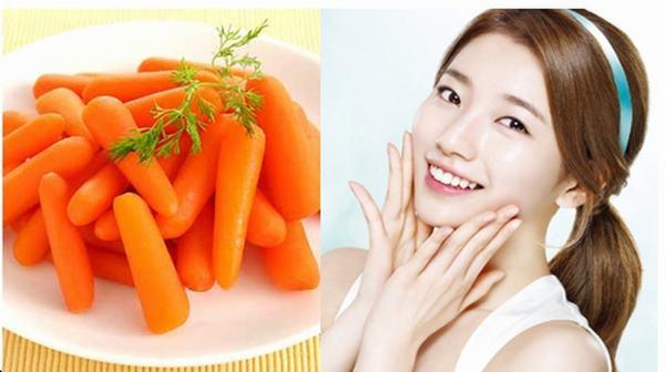 Cà rốt là loại củ có khả năng dưỡng trắng da tự nhiên an toàn, hiệu quả